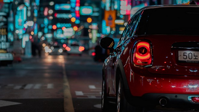 1920x1080 wallpapers: car, red, night city, street (image)