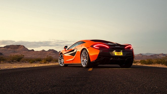 1920x1080 wallpapers: mclaren, 570s, rear view, orange (image)