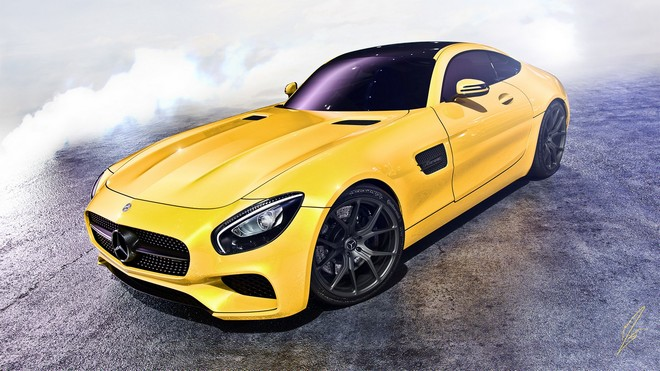 1920x1080 wallpapers: mercedes, amg, gt, yellow (image)