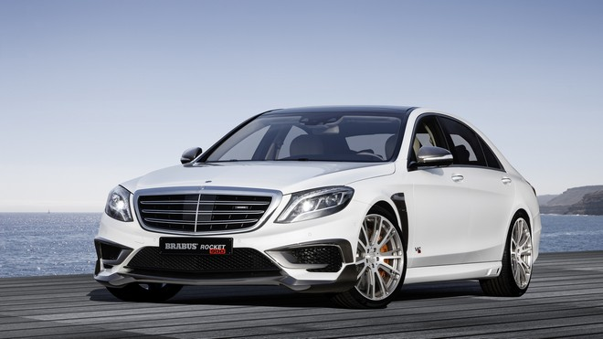 1920x1080 wallpapers: mercedes, brabus, rocket 900, w222, front view, white (image)