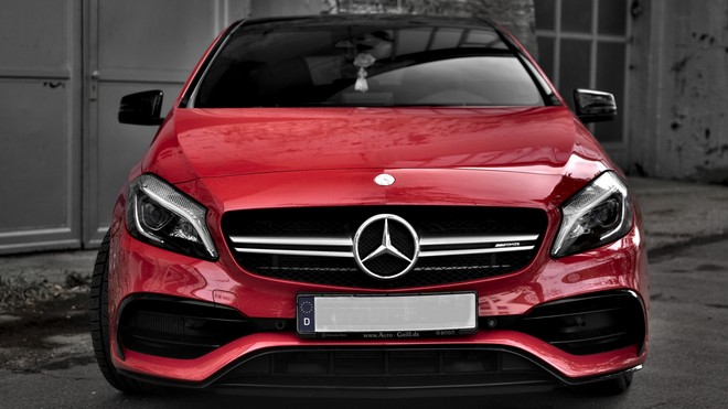 1920x1080 wallpapers: mercedes, car, red, front view, gray (image)