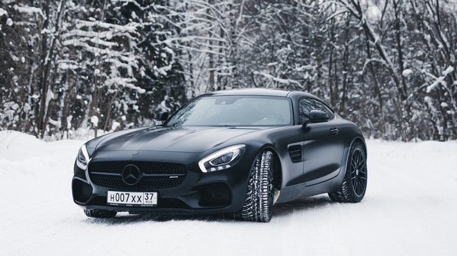 1920x1080 wallpapers: mercedes-benz, mercedes, black, snow (image)