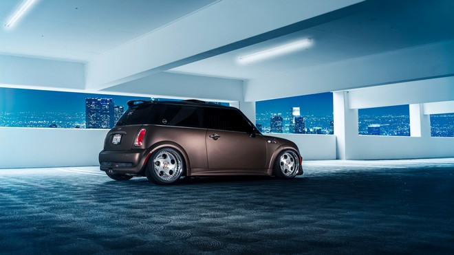 1920x1080 wallpapers: mini cooper, side view, parking (image)