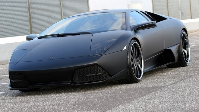 1920x1080 wallpapers: murcielago, tuning, black, matte (image)