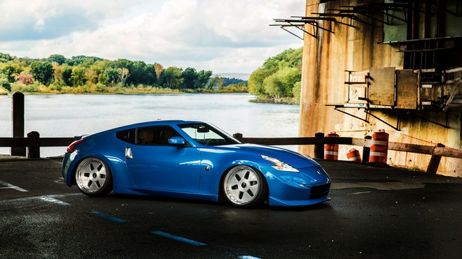 1920x1080 wallpapers: nissan, 370z, blue, side view (image)