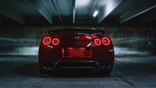 1920x1080 wallpapers: nissan gtr, nissan, headlights, rear view (image)