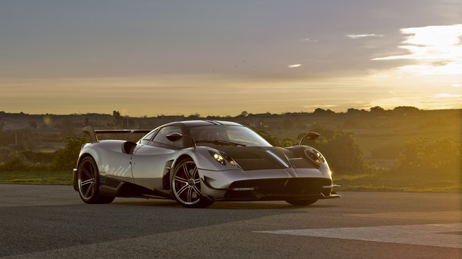 1920x1080 wallpapers: pagani, huayra, side view, road (image)