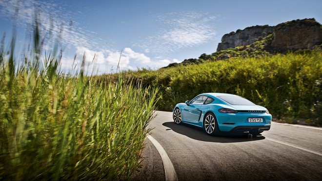 1920x1080 wallpapers: porsche, 718, cayman, blue (image)