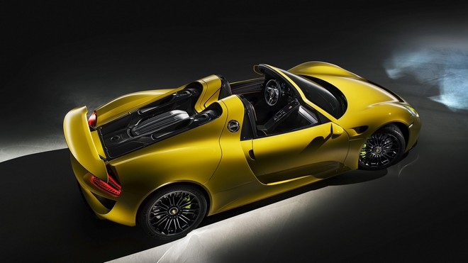 1920x1080 wallpapers: porsche, 918, yellow, spyder (image)