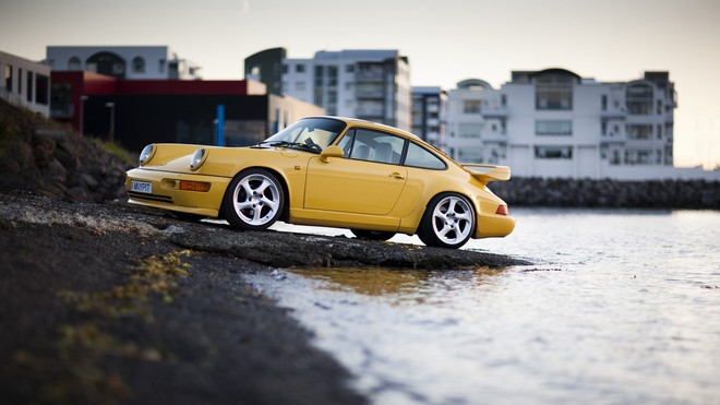 1920x1080 wallpapers: supercharged, carrera 4, yellow, porsche 911 (image)