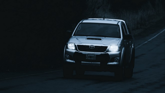 1920x1080 wallpapers: toyota hilux, toyota, car, SUV, dark, road (image)