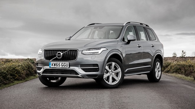 1920x1080 wallpapers: volvo, xc90, silver, side view (image)