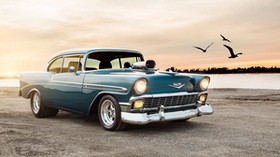 1956, chevrolet, bel, air, sport, coupe - wallpapers, picture