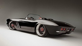 1962, chevrolet, rs, convertible, auto, black - wallpapers, picture