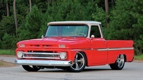 1965 chevy c10, red, auto, stylish, vintage - wallpapers, picture