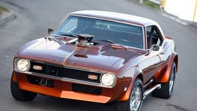 1968, chevrolet, camaro, car, front view - wallpapers, picture