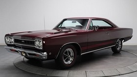 1968 plymouth gtx, plymouth, hemi, burgundy - wallpapers, picture