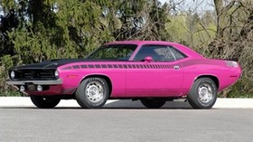 1970, plymouth, cuda, pink - wallpapers, picture