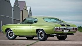 1972, chevrolet, chevelle, green, car - wallpapers, picture