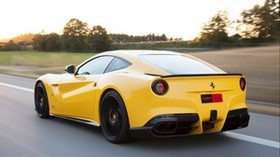 2013, ferrari f12, yellow, auto, speed - wallpapers, picture