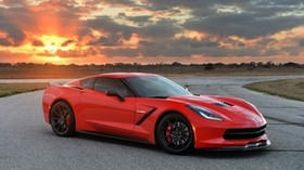 2014, hennessey, corvette, stingray, red, car - wallpapers, picture