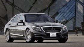 2015, mercedes, s500 hybrid, black, side view - wallpapers, picture