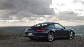 911, carrera, porsche, black, side view - wallpapers, picture