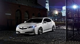 acura, auto, white, style, night - wallpapers, picture