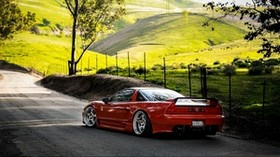 acura, auto, red, road - wallpapers, picture