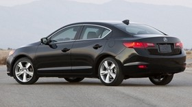 acura, ilx, 2012, black, sedan, style, side view, auto, mountains - wallpapers, picture