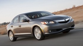 acura, ilx, 2012, brown, movement, speed, acura, front view, track, sedan, style, auto, nature - wallpapers, picture