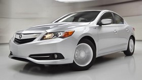 acura, ilx, hybrid, white, front bumper, style, auto, front view, speed - wallpapers, picture