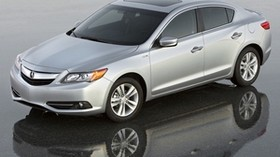 acura, ilx, hybrid, silver, style, sedan, top view, auto, reflection - wallpapers, picture