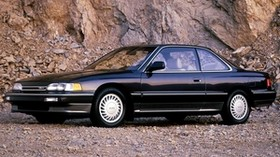 acura, legend, black, coupe, side view, auto, rocks - wallpapers, picture