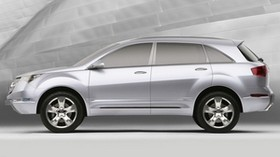 acura, mdx, concept, 2006, white, style, jeep, side view, concept car - wallpapers, picture