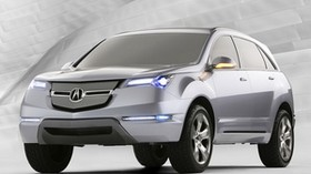 acura, mdx, silver metallic, jeep, front view, style, acur, concept car, car - wallpapers, picture