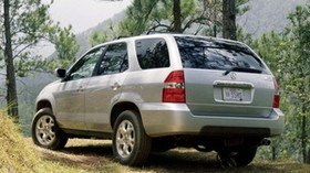 acura, mdx, silver metallic, jeep, rear view, auto, forest, nature - wallpapers, picture