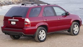 acura, mdx, cherry, jeep, rear view, acura, car, sea, nature - wallpapers, picture