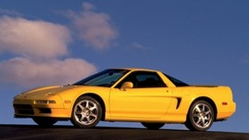 acura, nsx-t, yellow, side view, acura, nxx-t, style, auto, sky - wallpapers, picture