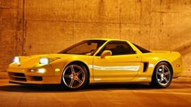 acura, nsx-t, yellow, side view, sport, acura, nxx-t, style, auto - wallpapers, picture