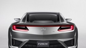 acura, nsx, concept, silver metallic, rear view, acura, nsx, concept car, style, sport, car - wallpapers, picture
