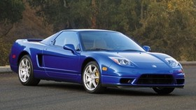 acura, nsx, blue, front view, acura, nxx, style, auto, nature, trees - wallpapers, picture