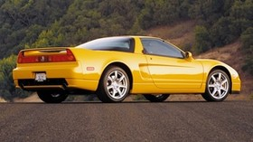 acura, nsx, yellow, convertible, side view, acura, nsx, style, auto, nature - wallpapers, picture