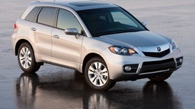acura, rdx, white, jeep, side view, acura, car, wet asphalt - wallpapers, picture