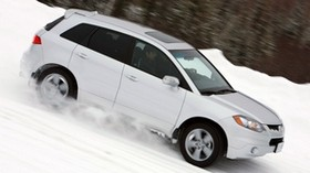 acura, rdx, white, jeep, side view, acura, speed, auto, snow, forest - wallpapers, picture
