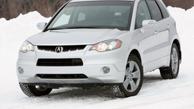 acura, rdx, white, jeep, front view, acura, auto, forest, snow - wallpapers, picture