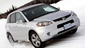 acura, rdx, white, front view, style, auto, acura, snow, nature - wallpapers, picture