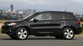 acura, rdx, black, jeep, side view, style, acura, auto, sky, city - wallpapers, picture