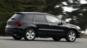 acura, rdx, black, side view, style, acura, auto, forest, asphalt - wallpapers, picture