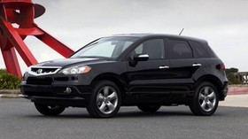 acura, rdx, black, side view, style, acura, auto, sky, grass - wallpapers, picture